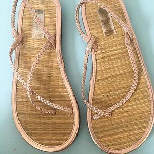 Old navy rose gold sandals